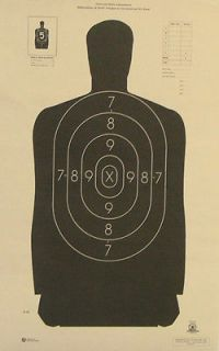 NRA Shooting Targets Official Police Silhouette14x29 MADE IN THE US