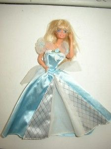 1966 mattel barbie doll in blue white gown time left