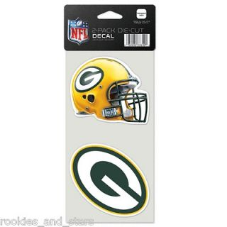 Green Bay Packers Die Cut Window Decal Set Of Two 4x4  In Stock   FREE