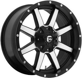 17 inch 17x9 Fuel Maverick machined wheel rim 6x5.5 Tacoma Tundra