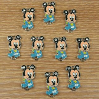 Baby Mickey Mouse Charm Pendants Baby Shower Jewerly Making Crafts DIY