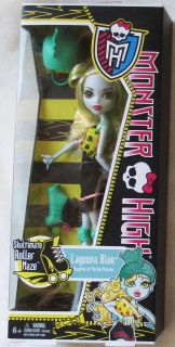 NEW MONSTER HIGH SKULTIMATE ROLLER MAZE LAGOONA BLUE 10 INCH DOLL W