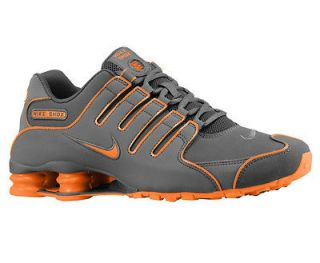CLASSIC MENS NIKE SHOX NZ RUNNING SHOES TRAINERS DARK GREY / ORANGE 14