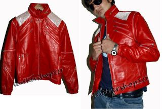 Michael jackson beat it Vintage leather jacket metalli​c