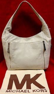 authentic michael kors ivory leather large crosby hobo bag msrp