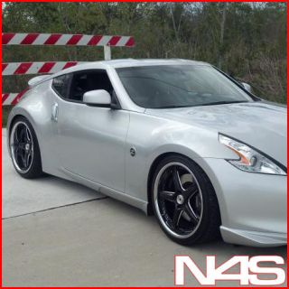 BRAND NEW 20 NISSAN 350Z VERTINI DRIFT BLACK STAGGERED WHEELS RIMS