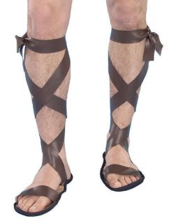 ROMAN GLADIATOR SANDALS Halloween Costume Accessory Adult 57497