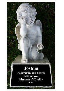 memorial gift personalised cherub on stone from united kingdom time