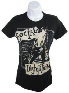 social distortion pretty picture punk girls shirt black