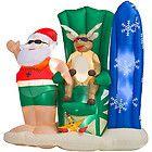 north pole santa claus lighted yard decoration