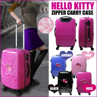 Hello Kitty suitcase heart full zipper carry case trip travel carrier