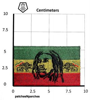 bob marley lion of judah rastafari rasta jah ital patch