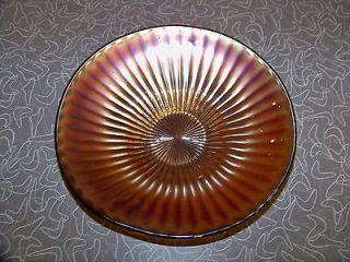 vintage smooth rays amethyst purple carnival glass bowl time left