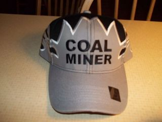 NEW BLACK & GREY COAL MINERS BALL CAP COAL MINING HAT NEW REALLY NICE