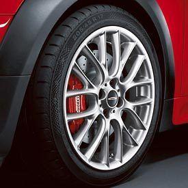mini cooper jcw 17 r112 silver challenge rim wheel new