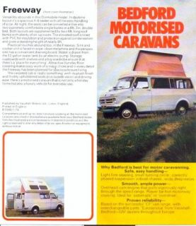 bedford cf uk camper van range sales brochure from united kingdom time