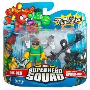 Marvel Super hero squad Doc Ock and Black Suited Spider Man