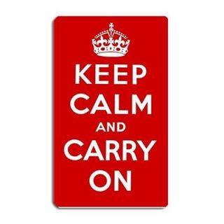 New Custom Keep Calm And Carry On Large Fridge Magnet 5x3