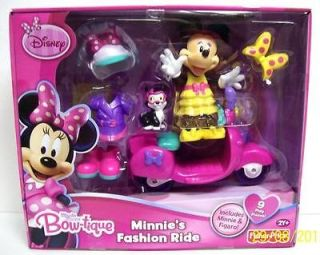Disney Mickey Mouse Minnies Bow tique Fashion Ride w/Figaro Cat