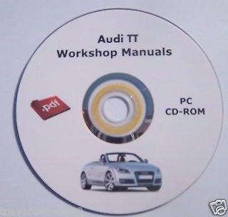 Audi TT MK1 Engine Electrical & Body workshop repair manual cd diesel