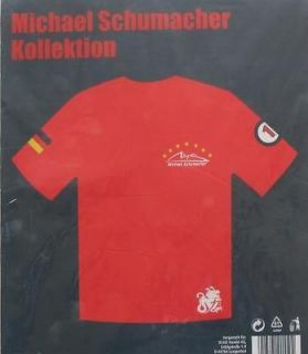 Michael Schumacher Collection Formula 1 T Shirt 100% Cotton Size XXL