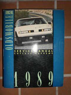 1989 Oldsmobile Cutlass Supreme Service Repair Manual SL International