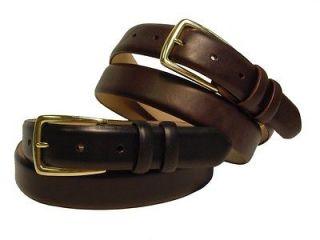 Mens Dress Belt Smooth Leather Calf Skin Leather Belt New Black Brown