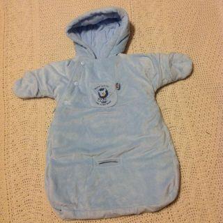 Infant Bunting Baby Boys Blue Winter Snow Coat snowsuit 0 6 Month