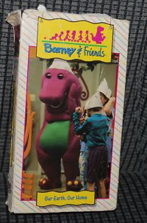 barney friends our earth our home vhs video movie vtg