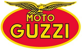 moto guzzi retro logo motorcycle helmet sticker from united kingdom