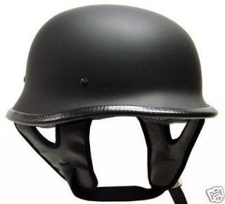 DOT German Motorcycle Street Half Helmet Chopper Cruiser Biker Matte