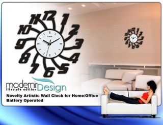 Modern Style Novelty Artistic Large Wall Clock Home Office Fashion