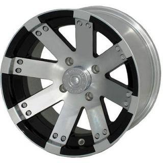 15x8 Machined Black Wheel Vision Buck Shot (158 ATV) 4x136