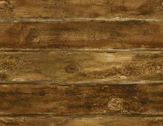 MEDIUM BROWN LOG CABIN 27 WIDE WALLPAPER SF51607