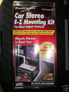 CAR STEREO E Z MOUNTING KIT   FOR MOST IMPORT & DOMESTIC VEHICLES