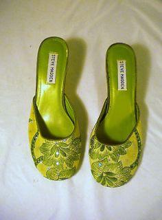 Steve Madden Vilaa High Heel Slides mules 6M Sequins Floral 2 Heel