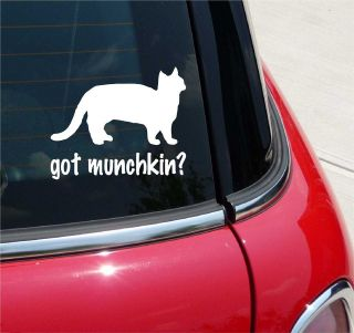 got munchkin cat graphic decal sticker vinyl car wall more