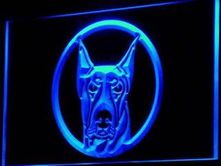 i667 b doberman pinscher dog pet shop neon light sign