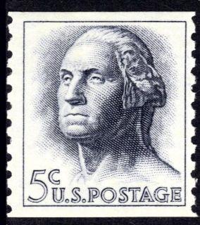 Scott #1229a 5 Cent George Washington Rotary Coil Single (Tagged