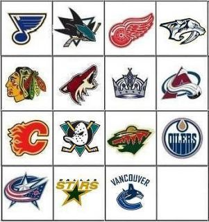 NHL Hockey Nail Decals Set of 20   Choose from 15 designs