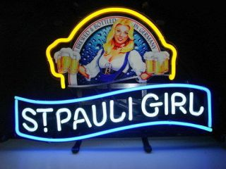 NEW St.Pauli Girl Neon Light Sign Gift Pub Home Bar St Pauli Beer Sign