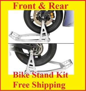 Aluminum Motorcycle Front & Rear Tire Street Bike Stand GSXR R6 R1 CBR