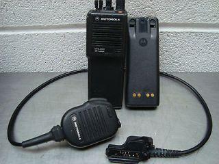 Motorola MTS 2000 RDVA Flashpoint Hand Held Radio/Headset and Battery