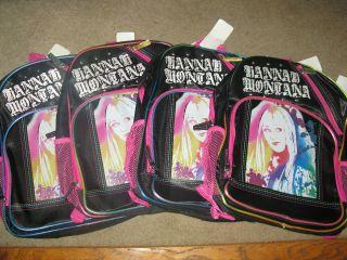 Disney Hannah Montana Miley Cyrus School Backpack LOT 4 Summer Camping
