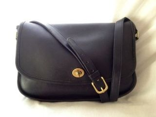 Vintage USA Made Dark Navy Blue Leather COACH CITY BAG Purse Style