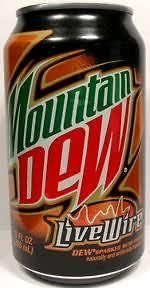 mountain dew livewire 12 cans 12oz each