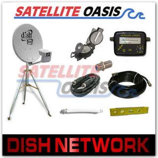 dish network 500 satellite rv tripod kit w finder new
