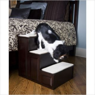 MR. HERZHERS DECORATIVE PET STEP DOG STAIRS 3 STEP PET STAIRS IN