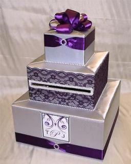 elegant custom made wedding card box any design color time left $ 80