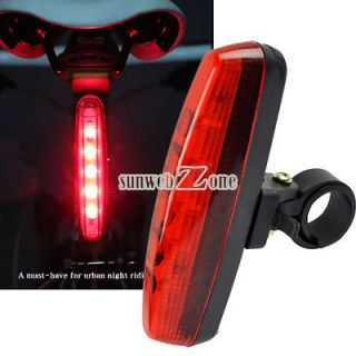 S0BZ 5LED 3 Mode Cycling Bicycle Bike Caution Safety Rear Tail Lamp